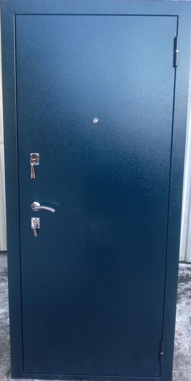 дверь металлическая синий